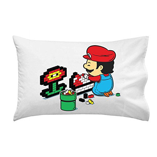 'Power Up' Video Game Italian Plumber Parody - Pillow Case Single Pillowcase
