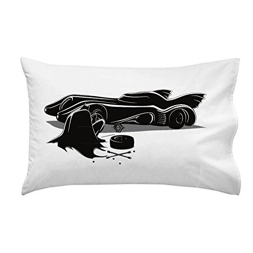 'Behind The Action Scene' Super Hero Comic Parody Changing Tire - Pillow Case Single Pillowcase