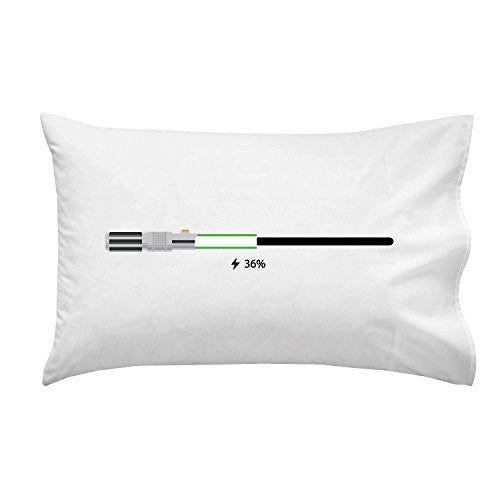 'Charging' Funny Space Movie Parody Battery Charge Indicator - Pillow Case Single Pillowcase