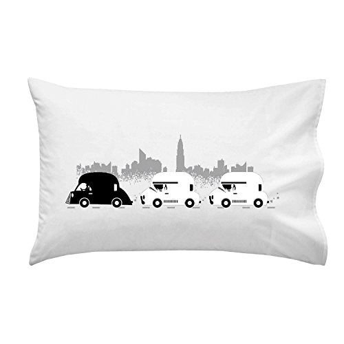 'On The Road' Funny Space Movie Parody Motorcade - Pillow Case Single Pillowcase