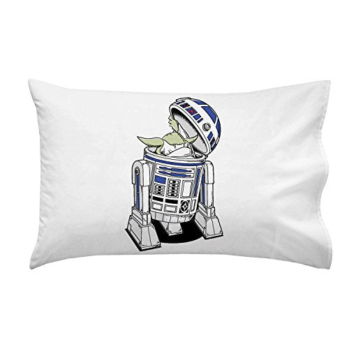 'The Man Behind' Funny Space Movie Robot Parody - Pillow Case Single Pillowcase