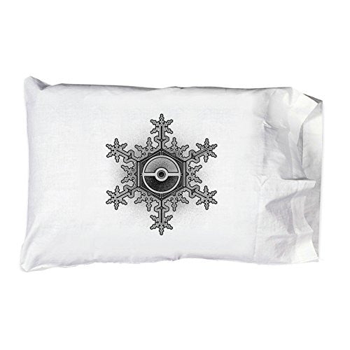 Pillow Case Single Pillowcase - Ball in Snowflake - Parody Design