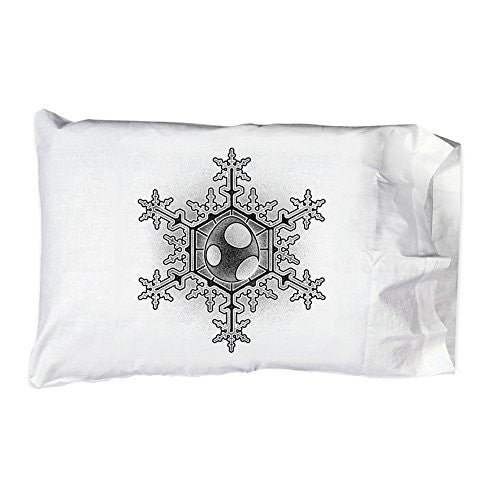 Pillow Case Single Pillowcase - Egg Snowflake - Parody Design