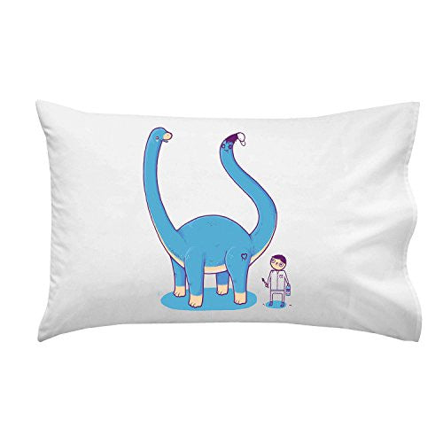 'Someone On Your Level' Funny Brontosaurus w/ Painted Tail - Pillow Case Single Pillowcase