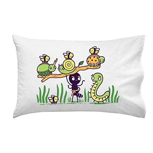 'Ant Strong Man' Cute Insect Bug Muscles - Pillow Case Single Pillowcase