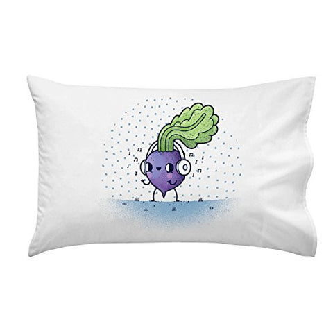 'Beat Roots' Plant & Music Mashup - Pillow Case Single Pillowcase