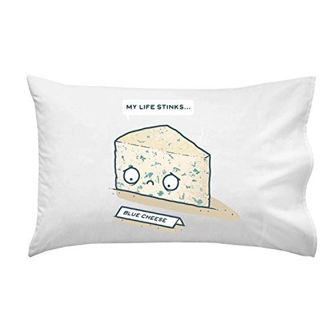 'Blue Cheese' Sad Food Humor - Pillow Case Single Pillowcase