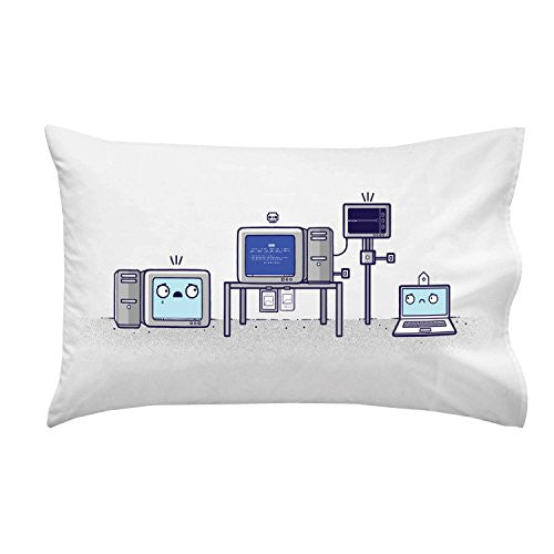 'Blue Screen' Computer Health Humor - Pillow Case Single Pillowcase