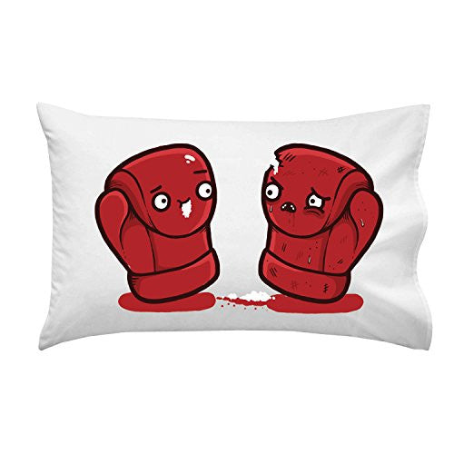 'Boxing Gloves' Box Match Humor - Pillow Case Single Pillowcase