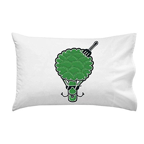'B-Roc' Broccoli Humor - Pillow Case Single Pillowcase