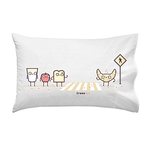 'Crossant' Bakery Goods Pun - Pillow Case Single Pillowcase