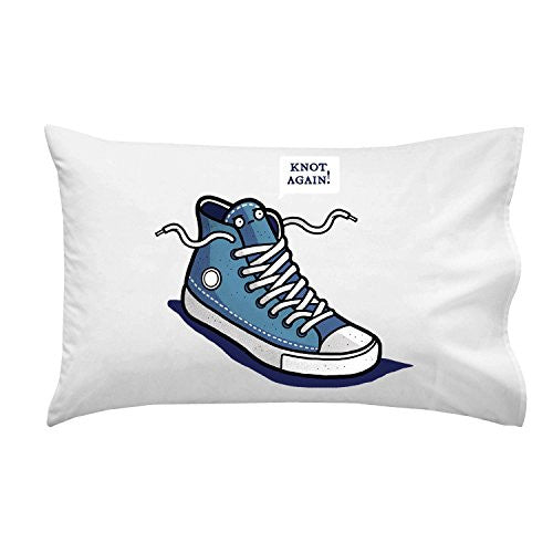 'Knot Again' Shoe & Laces Humor - Pillow Case Single Pillowcase