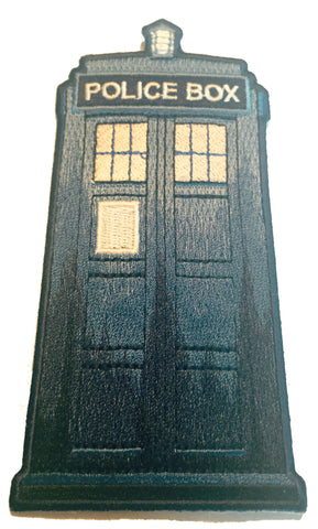 Tardis Blue Telephone Box TV Show - Novelty Iron On Patch Applique