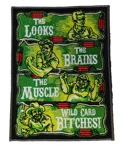 """The Philly Crew"" Parody Design - Novelty Iron On Patch Applique HS P - PUNK - 0077"