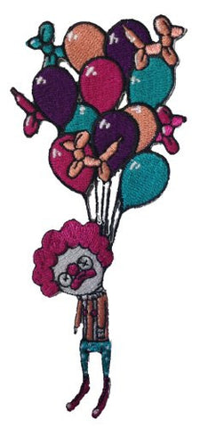 Randy Otter 'Last Laugh' Dead Clown Choked by Balloons Iron On Patch Applique