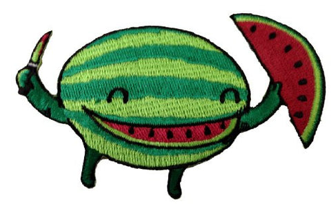 Randy Otter 'Slice of Happiness' Cute Watermelon Cutting Self Patch Applique