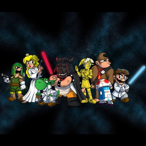 'Plumbing Wars Group' All Characters Funny Video Game & Space Movie Parody - Vinyl Sticker