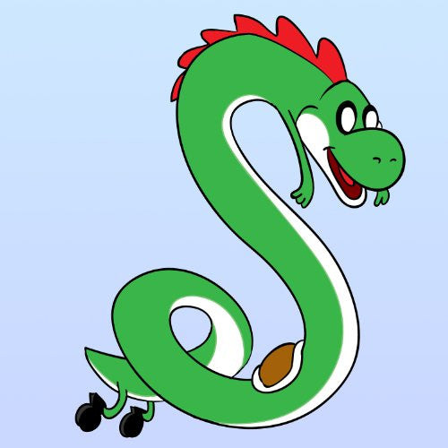 'Plumbing Time' Snake Creature Character Funny Video Game & TV Show Cartoon Parody - Vinyl Sticker