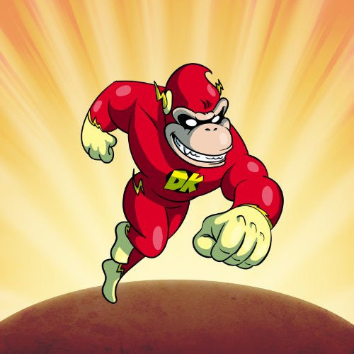 'Plumbers League of America' Lightning Fast Gorilla Character Funny Video Game & Super Hero Team Parody - Vinyl Sticker