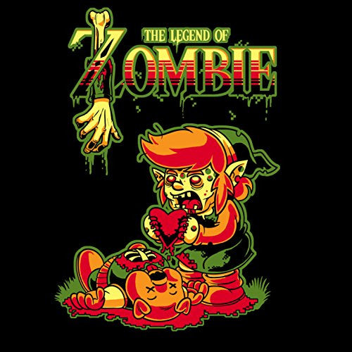 'The Legend of Zombie' Funny Classic Video Game Parody - Vinyl Sticker