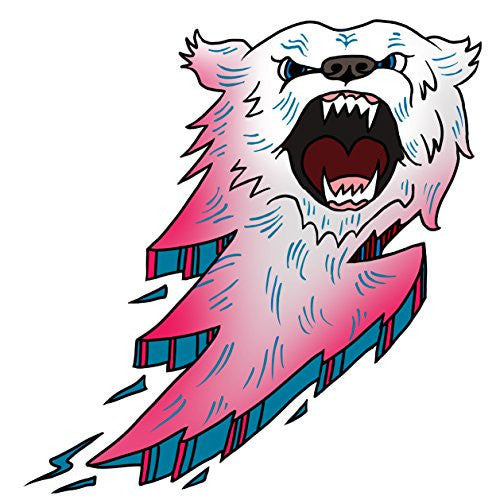 'Bear Bolt Lightning' Animal Cartoon Logo - Vinyl Sticker