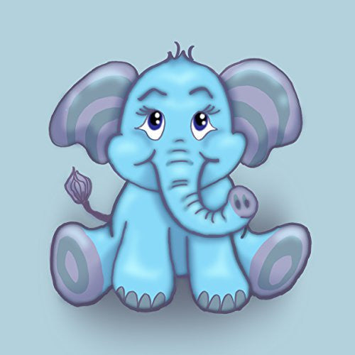 'Cute Lil Elephant' Funny Cute Animal Cartoon - Vinyl Sticker