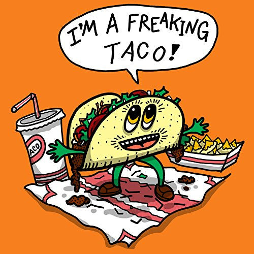 'Freakin Taco' Funny Mexican Food Cartoon - Vinyl Sticker