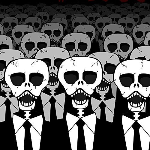 'Dead Suits Skeleton March' Mass of Skulls on the Move - Vinyl Sticker
