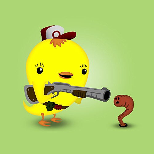 'Early Bird Worm Hunter' Funny Saying Parody Cute Animals - Vinyl Sticker