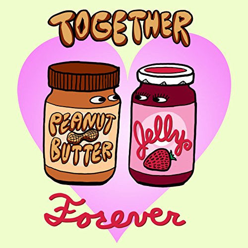 'PBJ Forever' Funny Love Heart Together Romance - Vinyl Sticker