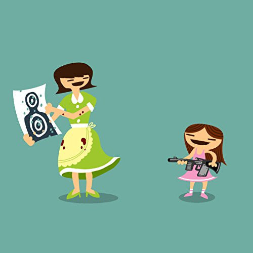 'Good Job Baby' Funny Mom & Daughter Target Practice - Vinyl Sticker
