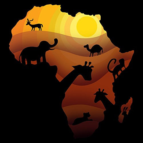 'African Animals' Sahara Bush Wildlife - Vinyl Sticker