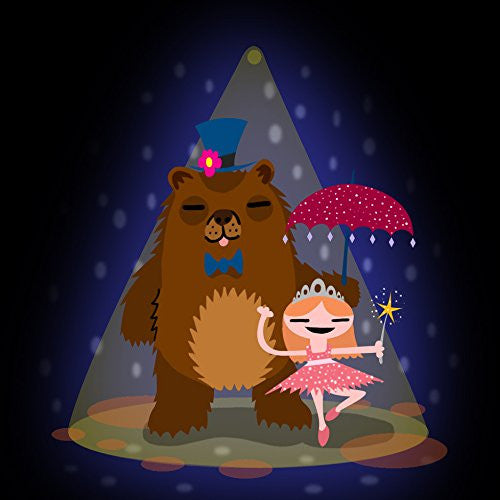 'Bear & Ballerina' Funny Dancing Couple - Vinyl Sticker