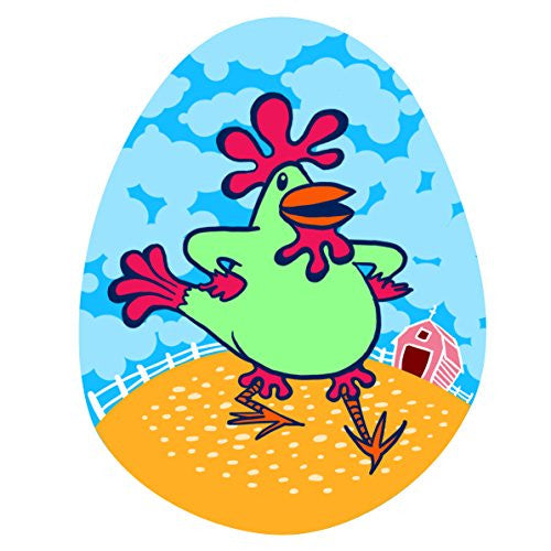 'Funky Dancin' Chicken' Funny Farm Animal - Vinyl Sticker