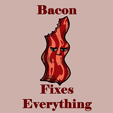 'Bacon Fixes Everything' Food Humor Cartoon - Vinyl Sticker