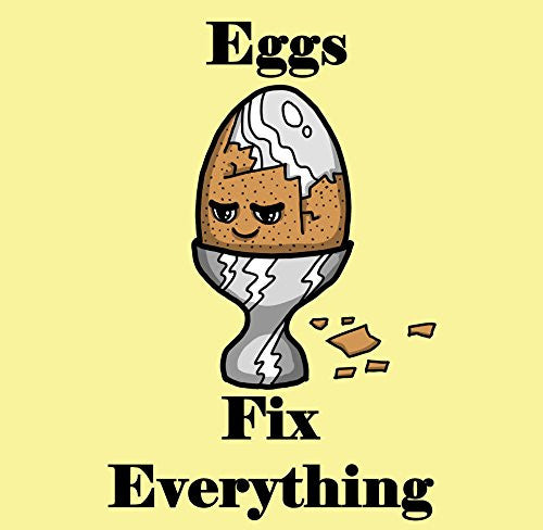 'Eggs Fix Everything' Food Humor Cartoon - Vinyl Sticker