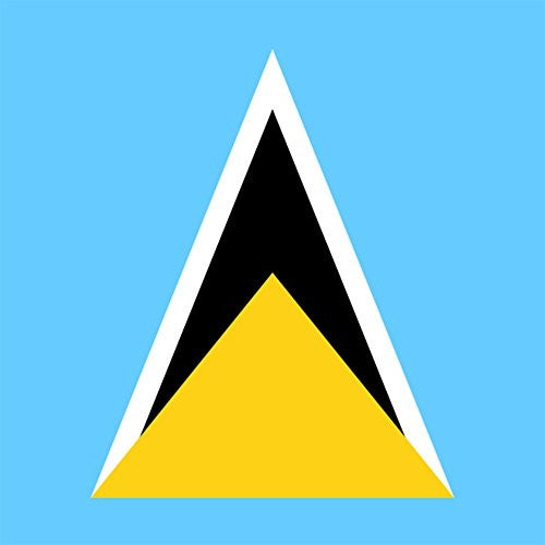 Saint Lucia - World Country National Flags - Vinyl Sticker