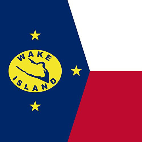 Wake Island - World Country National Flags - Vinyl Sticker