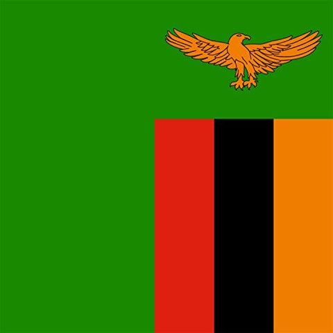 Zambia - World Country National Flags - Vinyl Sticker