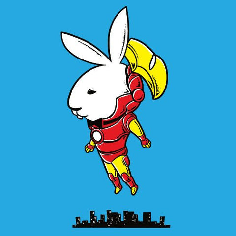 'Bunny Inside' Funny Super Hero Comic & Magazine Parody - Vinyl Sticker
