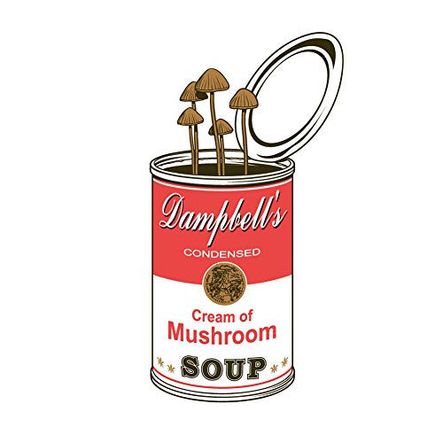 'Original' Dampbell's Cream of Mushroom w/ Fungus Growing - Vinyl Sticker