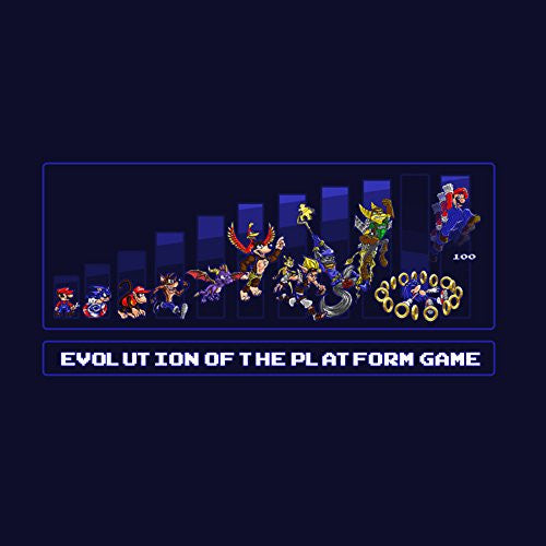 Vinyl Sticker - Evolution of Platformers - Parody Design