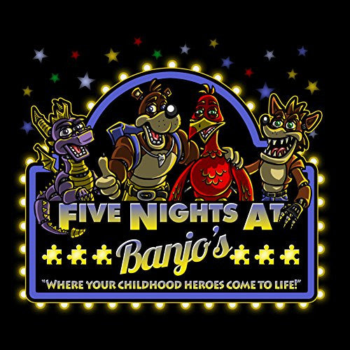 Vinyl Sticker - Five Nights at Banjo's - Parody Design