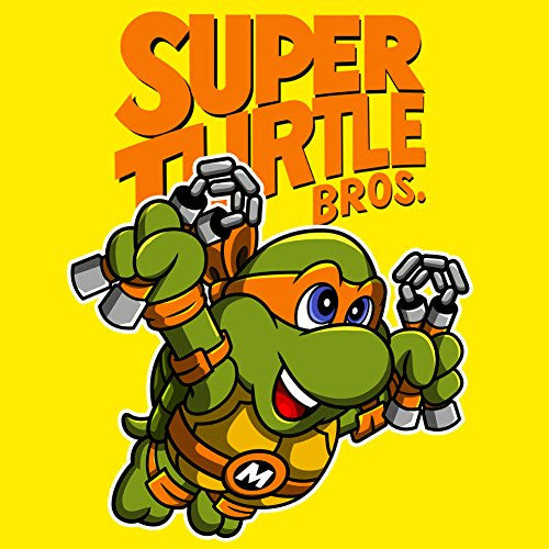Vinyl Sticker - Super Turtle Bros Mikey - Parody Design