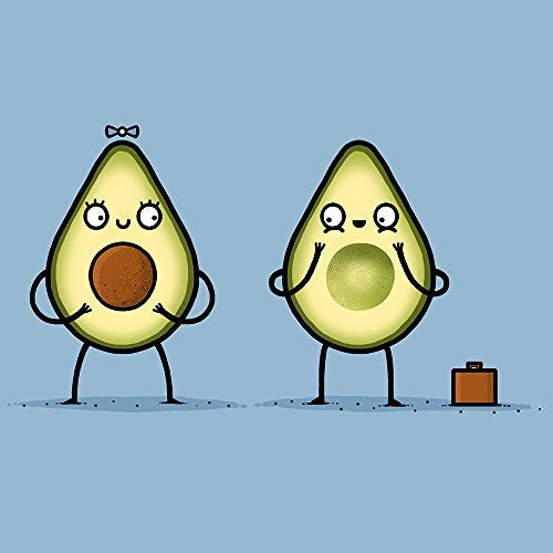 'Avocado Baby' Fruit & Seed Couple Humor - Vinyl Sticker