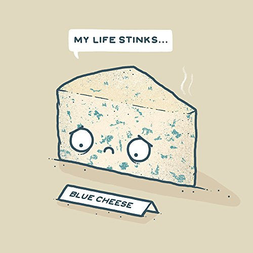 'Blue Cheese' Sad Food Humor - Vinyl Sticker