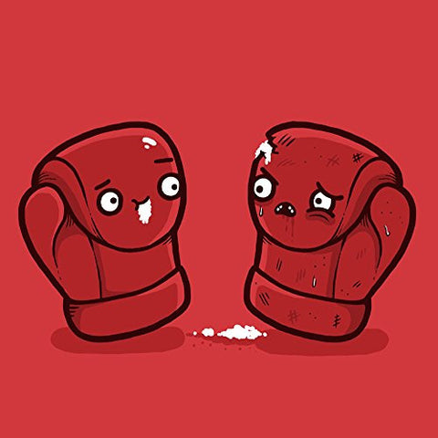 'Boxing Gloves' Box Match Humor - Vinyl Sticker