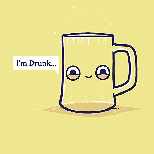 'Drunk' Empty Cup Pun Humor - Vinyl Sticker