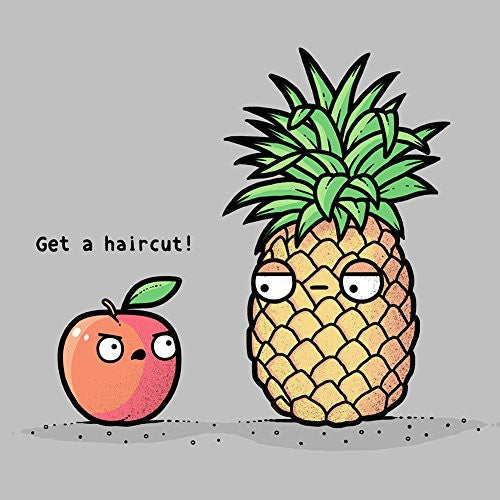 'Haircut Pineapple' Fruit Humor - Vinyl Sticker