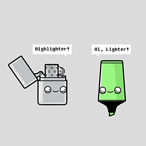 'Highlighter' Lighter Pun - Vinyl Sticker